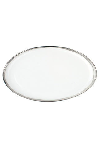 Small Platter with Platinum Rim
