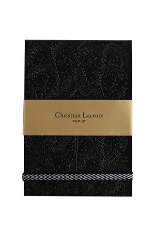Black Embossed Paseo Notepad