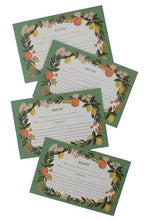 Load image into Gallery viewer, Citrus Floral Recipe Card Set