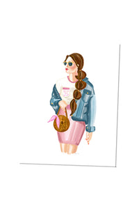 Custom Curate Girl Card