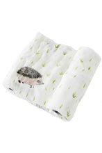 Load image into Gallery viewer, Hedgehog Deluxe Muslin Swaddle