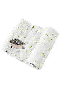Hedgehog Deluxe Muslin Swaddle