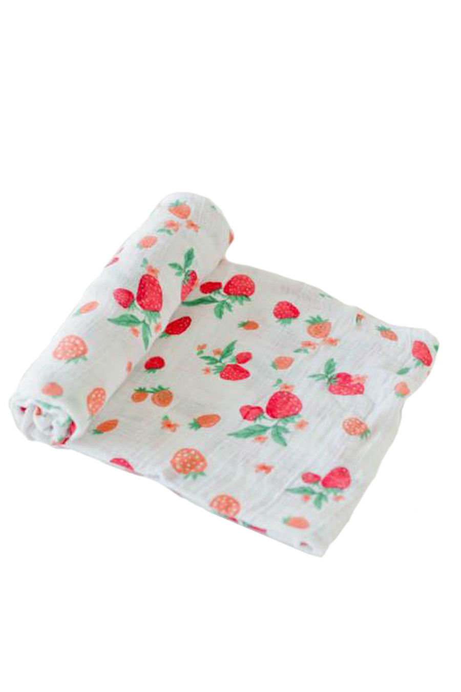Strawberry Cotton Muslin Swaddle