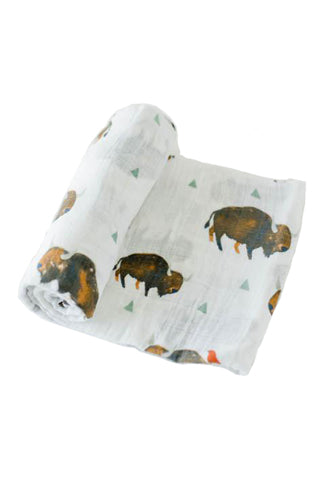 Bison Cotton Muslin Swaddle