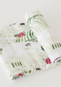 Rolling Hills Cotton Muslin Swaddle