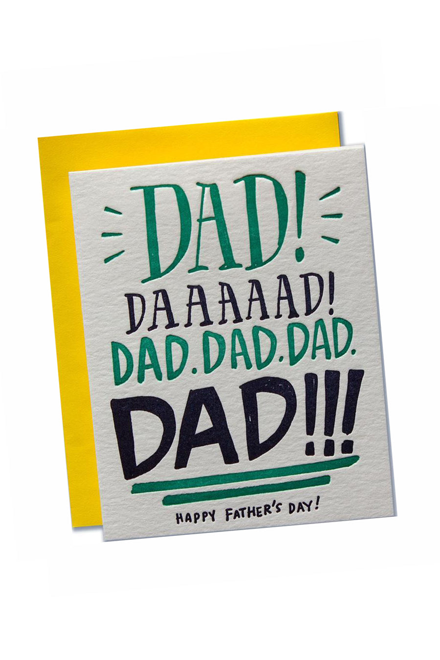 Dad Yelling Father's Day Card