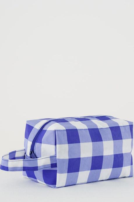 Dopp Kit | Big Check Blue