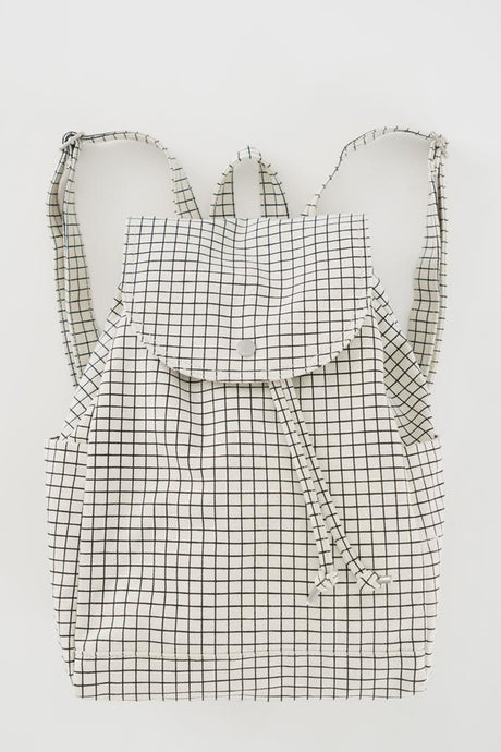 Grid Drawstring Backpack