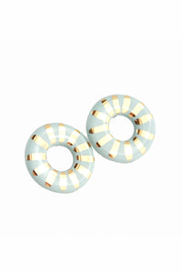 Round Sunburst Stud Earrings