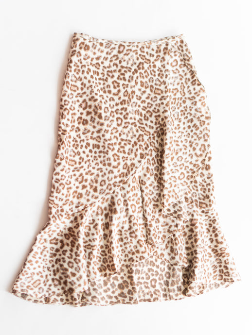 Abby Ruffled Leopard Skirt