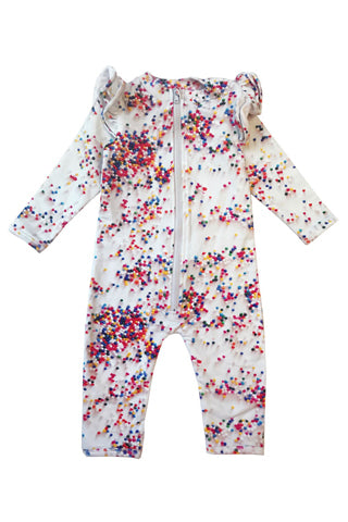 Sugar Dots Ruffled Space Suit