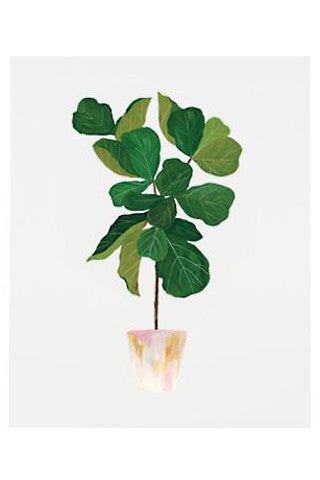 Fiddle Fig Leaf Tree Print