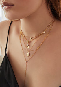 Nina Layered Lariat Necklace