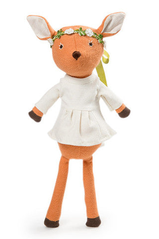 Phoebe the Fawn in Organic Tunic & Flower Crown