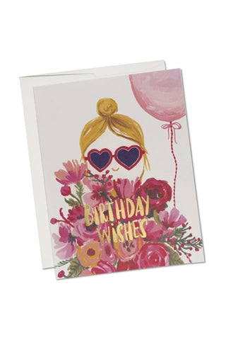 Heart Shaped Glasses Bday Card