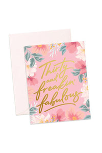 Thirty & Fabulous Card