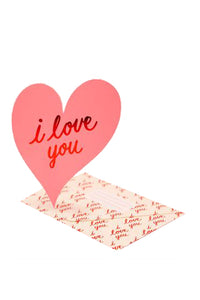 Love You Heart Card