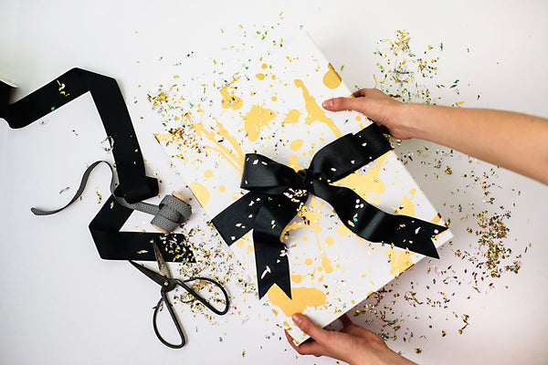 Gold Inkblot Box