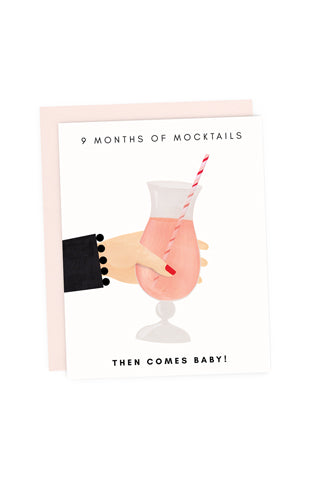 Mocktails Then Baby Card