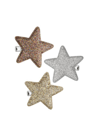 Glitter Superstar Salon Clips