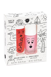 Nailmatic Kids Lip Gloss + Nail Polish Duo