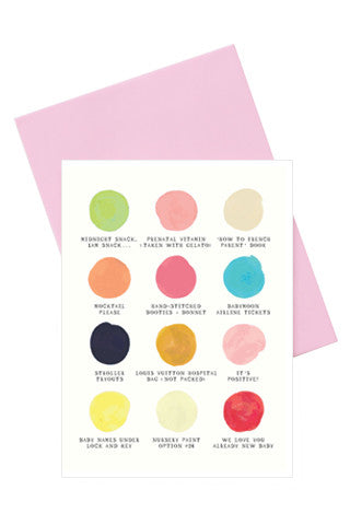 You're Pregnant! Color Palette Card