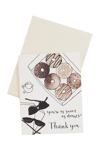 Donuts Thank You Card