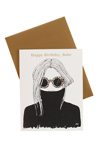 Leopard Shades Birthday Card