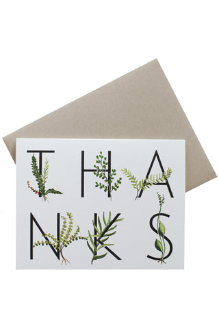 Fern Thanks Card