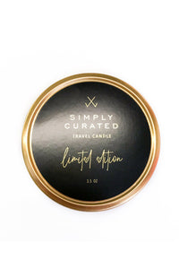 Simply Curated Travel Candle | Amber & Cardamom