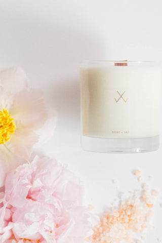 Simply Curated Simple Candle | Peony & Salt