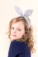 Load image into Gallery viewer, Coco Bow Headband | Denim Stripe