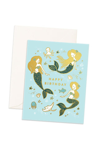 Happy Birthday Mermaids Card