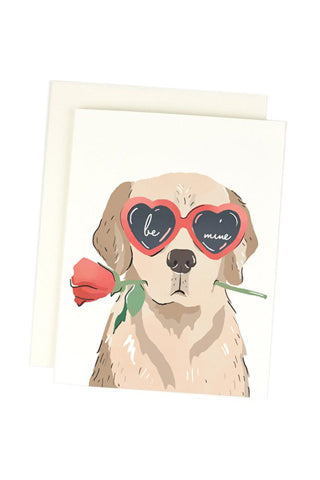 Be Mine Heart Eye Pup Card