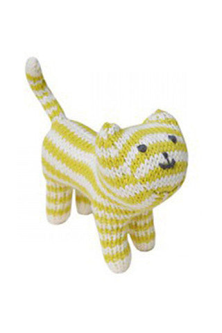 Lime Knit Cat Rattle