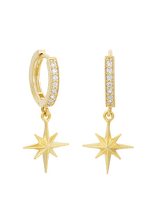 Luna Charm Hoop Earrings
