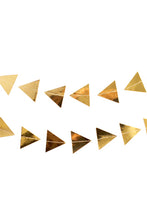 Load image into Gallery viewer, Gold Triangles Garland