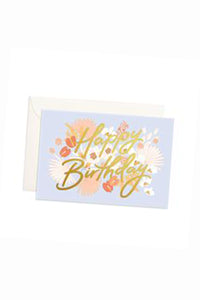 Happy Birthday Mini Floribunda Card