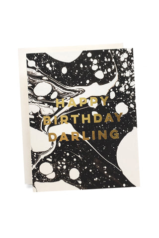 Marble Happy Birthday Card