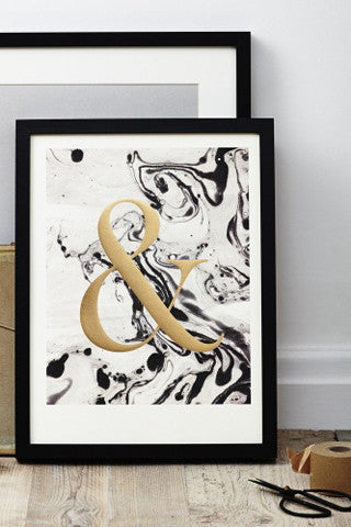 Marbled Ampersand Print