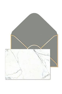 Marbled Flat Panel Note Card Set
