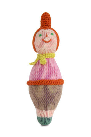 Roly Poly Knit Rattle - Mom
