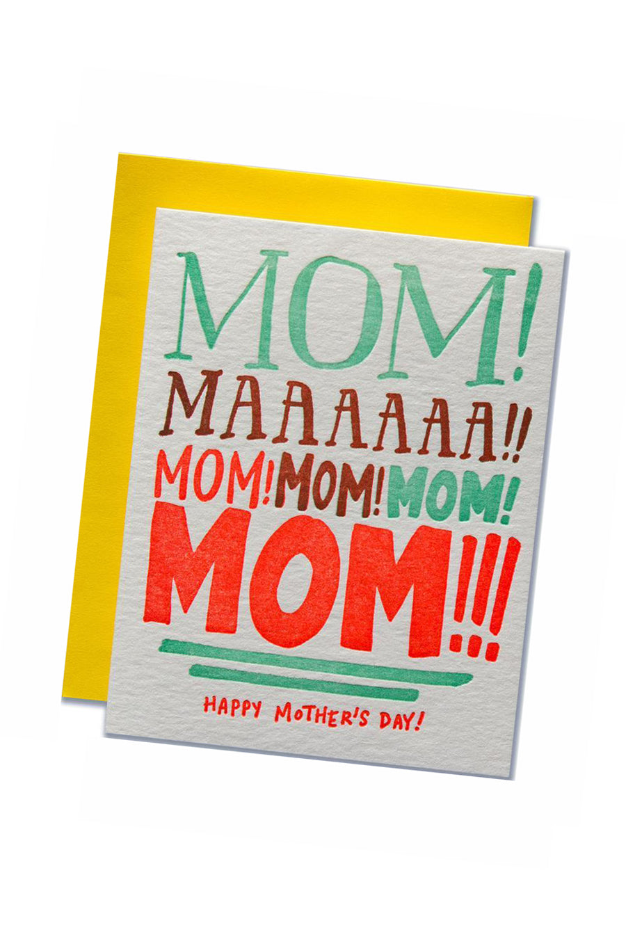 Mom Yelling Mother's Day Card