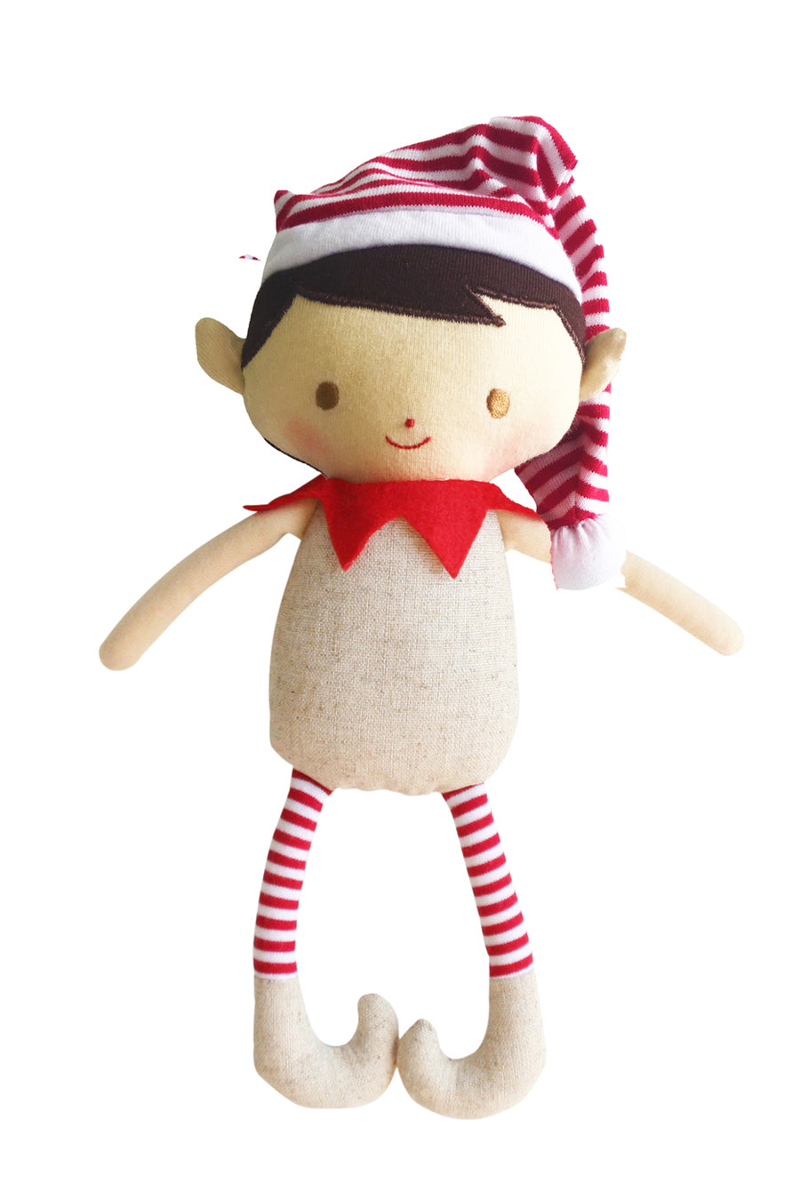 Cheeky Boy Linen Elf Rattle