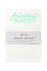 "Letterpress ""Do Something Awesome"" Jotter"