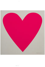 Load image into Gallery viewer, Neon Pink Heart Print
