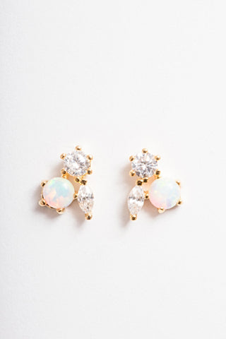 Mila Post Earrings | Gold