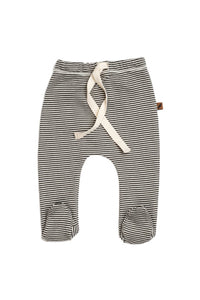 Organic Footed Pants | Stripe