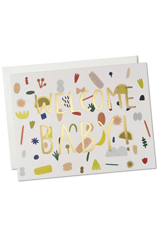 Playful Baby Foil Card
