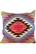 Load image into Gallery viewer, Parvara Square Shimmer Kilim Pillow